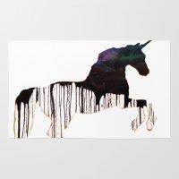 unicorns Area & Throw Rugs featuring Unicorns by Unicorn Alphabet