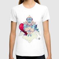 snowboard T-shirts featuring Snowboard Yeti by garciarts