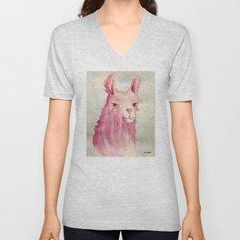 Pink Llama Unisex V-Neck