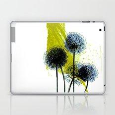blue dandelion on abstract background Laptop & iPad Skin