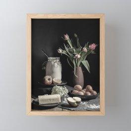 Apple pie | fine art still life color photography | print wall art Framed Mini Art Print