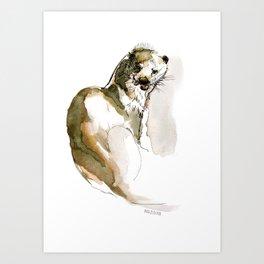 Totem: Eurasian River Otter (c) 2017 Art Print
