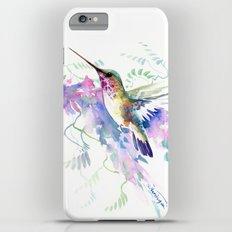 Hummingbird and Soft Purple Flowers Slim Case iPhone 6 Plus