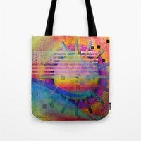 submarine Tote Bags featuring submarine by Kay Weber