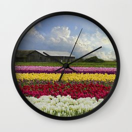 Flower Art - Hope Is by Jordan Blackstone Wall Clock