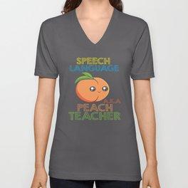 Speech Pathology Speech Therapist Peach Design Unisex V-Neck