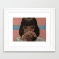 mia wallace Framed Art Prints featuring Mia Wallace by Steve Nice