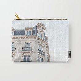 Parisian Building Paris France Photo Art Print | Europe Street Architecture Travel Photography Carry-All Pouch