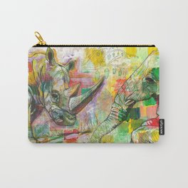 Rhinoceros Love and Friendly Observer Together! Carry-All Pouch