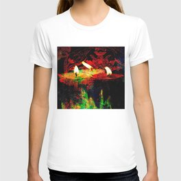 Candles Still Life By Annie Zeno  T-shirt