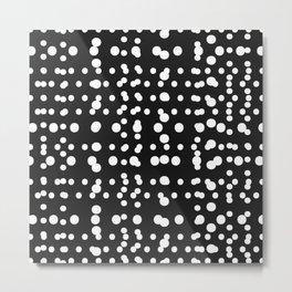 Polka Dot Scramble Metal Print