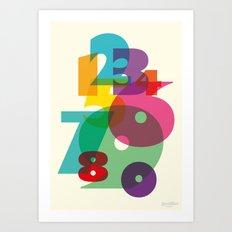 123 in colors Art Print