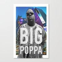 big poppa Canvas Prints featuring Big Poppa // NY by Lukasjohnsen
