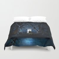 gondor Duvet Covers featuring Doors Of Tardis by alifart