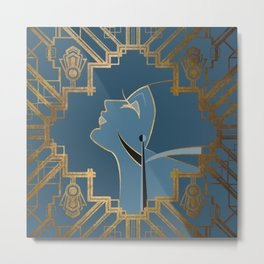 Art Deco Graphic No. 151 Metal Print