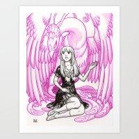 Elemental Schoolgirls  -  Phoenix Art Print