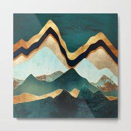 Velvet Copper Mountains Metal Print