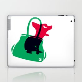 Angry animals: chihuahua - little green bag Laptop & iPad Skin