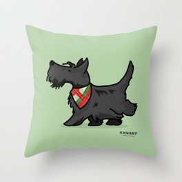 The Scottish Terrier Throw Pillow
