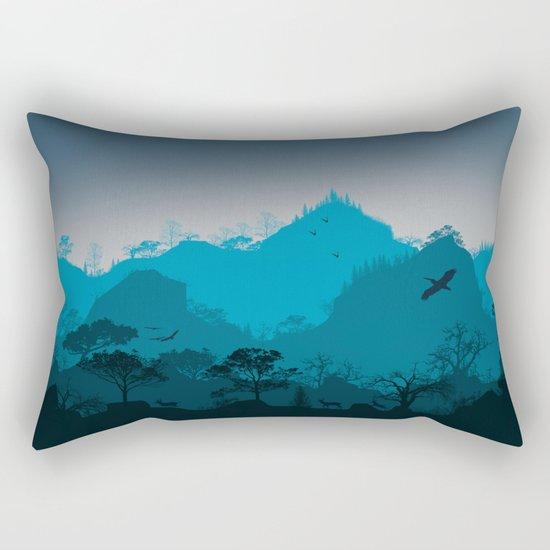 Dark mountain design Rectangular Pillow