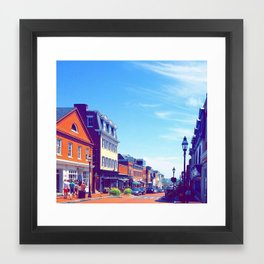 Summer in Annapolis Framed Art Print