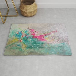 Sweet madness - Abstract mixed media composition Rug