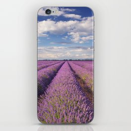 Blooming fields of lavender in the Provence, southern France iPhone Skin