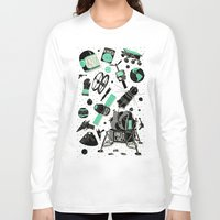 ashton irwin Long Sleeve T-shirts featuring Space Funk by Josh Ln
