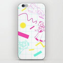 Memphis Peach iPhone Skin