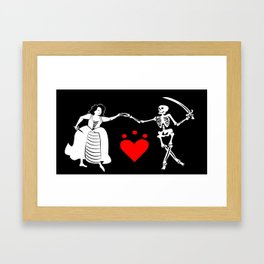 Pirate Queen Jacquotte Delahaye's Flag Framed Art Print