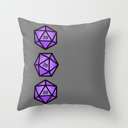 Purple d20 Throw Pillow
