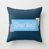 ghost world Throw Pillows featuring Ghost World by Nihilist
