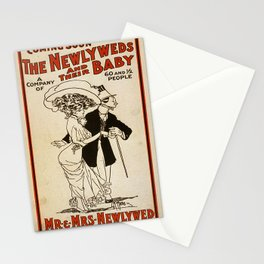 Vintage poster - The Newlyweds and their Baby Stationery Cards