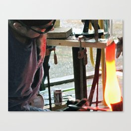 Hot Glass Canvas Print