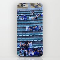 dodgers iPhone & iPod Skins featuring Find Your Seat by Gabe Dahl