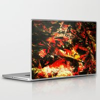 camp Laptop & iPad Skins featuring Camp Fire by James Peart