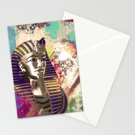 King Tut  Mask Abstract composition Stationery Cards