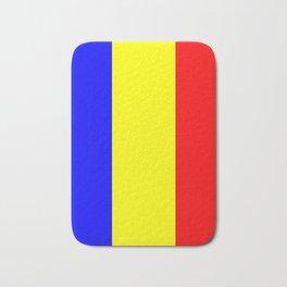 Flag of romania 2 -romania,romanian,balkan,bucharest,danube,romani,romana,bucuresti Bath Mat