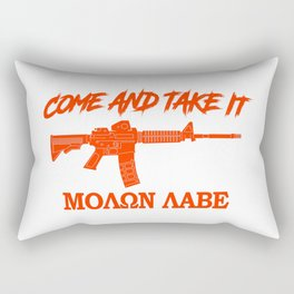 Come and Take It! Molon Labe! Red in Greek. Rectangular Pillow