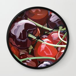 Cherries Wall Clock