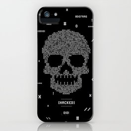 Hacked Skull iPhone Case