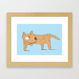 Perro Cojo / Lame Dog - blue and orange Framed Art Print