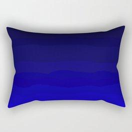 Deep Rich Sapphire Ombre Rectangular Pillow