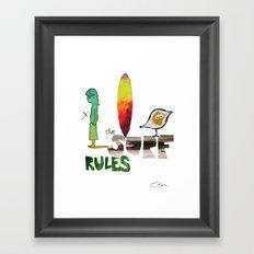 The Surf Rules Framed Art Print