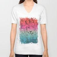 safari V-neck T-shirts featuring Safari by Lumiere