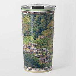 TERRACED HIMALAYAN FOOTHILLS VILLAGE IN NEPAL Travel Mug