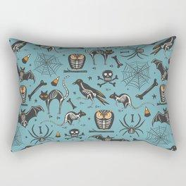 Halloween X-Ray Blue Rectangular Pillow