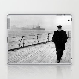 Winston Churchill At Sea Laptop & iPad Skin