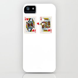The King knows what the heart wants. iPhone Case