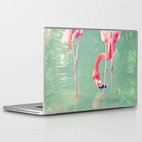 flamingos Laptop & iPad Skins featuring Flamingos  by Laura Ruth